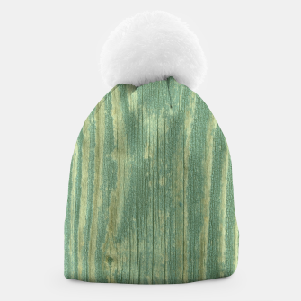 Thumbnail image of Rustic green weathered wood Beanie, Live Heroes