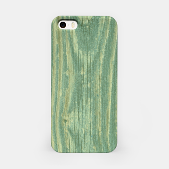 Thumbnail image of Rustic green weathered wood iPhone Case, Live Heroes