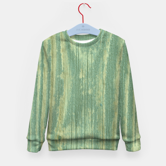Thumbnail image of Rustic green weathered wood Kid's Sweater, Live Heroes