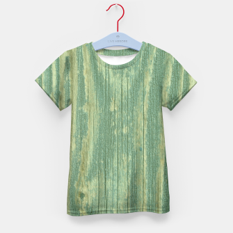 Thumbnail image of Rustic green weathered wood Kid's T-shirt, Live Heroes