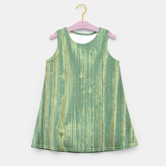 Thumbnail image of Rustic green weathered wood Girl's Summer Dress, Live Heroes