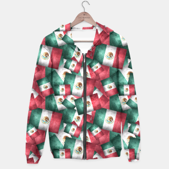 Thumbnail image of Grunge-Style Mexican Flag  Hoodie, Live Heroes