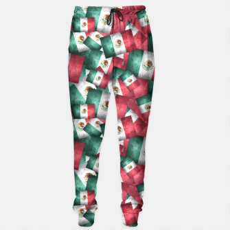 Thumbnail image of Grunge-Style Mexican Flag  Sweatpants, Live Heroes