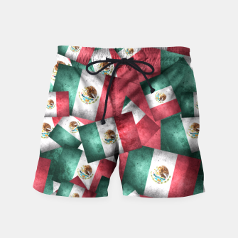 Thumbnail image of Grunge-Style Mexican Flag  Swim Shorts, Live Heroes
