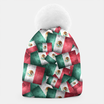 Thumbnail image of Grunge-Style Mexican Flag  Beanie, Live Heroes