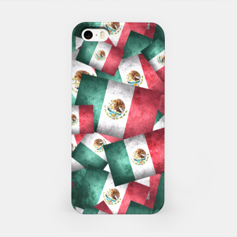 Thumbnail image of Grunge-Style Mexican Flag  iPhone Case, Live Heroes