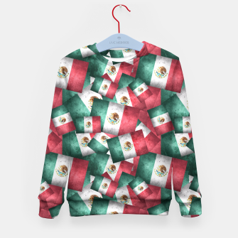 Thumbnail image of Grunge-Style Mexican Flag  Kid's Sweater, Live Heroes