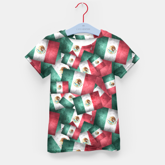 Thumbnail image of Grunge-Style Mexican Flag  Kid's T-shirt, Live Heroes