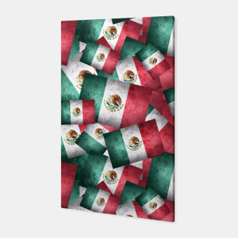 Thumbnail image of Grunge-Style Mexican Flag  Canvas, Live Heroes