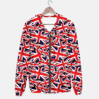 Thumbnail image of Union Jack British England UK Flag  Hoodie, Live Heroes