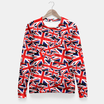 Thumbnail image of Union Jack British England UK Flag  Fitted Waist Sweater, Live Heroes