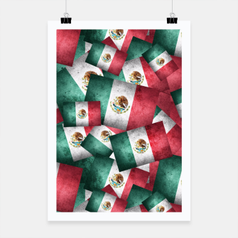 Thumbnail image of Grunge-Style Mexican Flag  Poster, Live Heroes