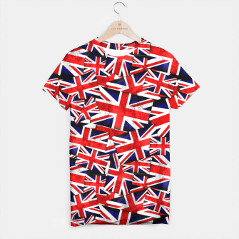 Thumbnail image of Union Jack British England UK Flag  T-shirt, Live Heroes