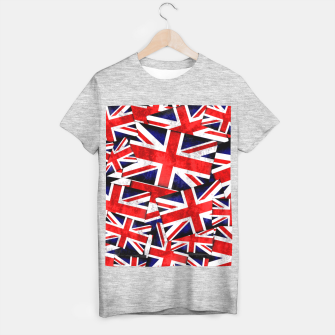 Thumbnail image of Union Jack British England UK Flag  T-shirt regular, Live Heroes