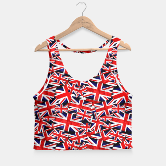 Thumbnail image of Union Jack British England UK Flag  Crop Top, Live Heroes