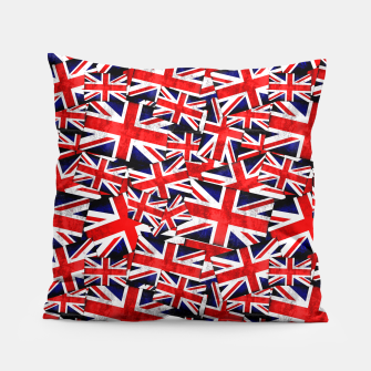 Thumbnail image of Union Jack British England UK Flag  Pillow, Live Heroes