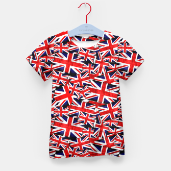 Thumbnail image of Union Jack British England UK Flag  Kid's T-shirt, Live Heroes
