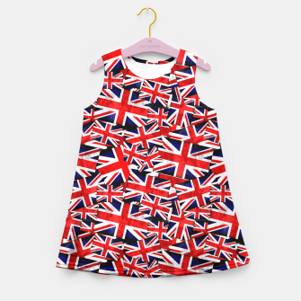 Thumbnail image of Union Jack British England UK Flag  Girl's Summer Dress, Live Heroes