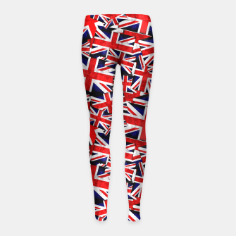 Thumbnail image of Union Jack British England UK Flag  Girl's Leggings, Live Heroes