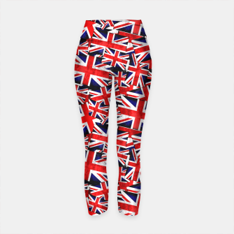 Thumbnail image of Union Jack British England UK Flag  Yoga Pants, Live Heroes