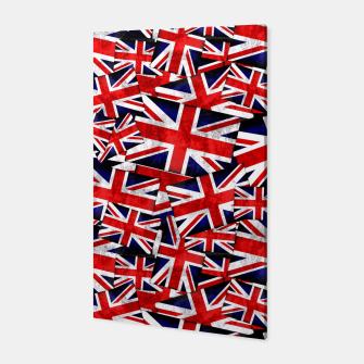Thumbnail image of Union Jack British England UK Flag  Canvas, Live Heroes