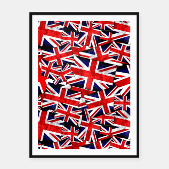 Thumbnail image of Union Jack British England UK Flag  Framed poster, Live Heroes