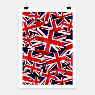 Thumbnail image of Union Jack British England UK Flag  Poster, Live Heroes