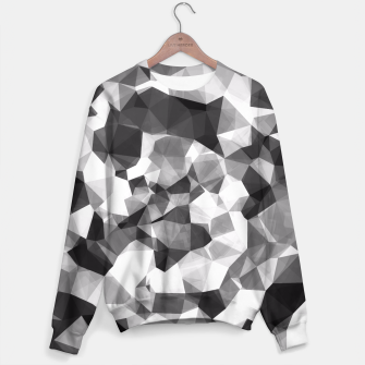 Miniaturka contemporary geometric polygon abstract pattern in black and white Sweater, Live Heroes