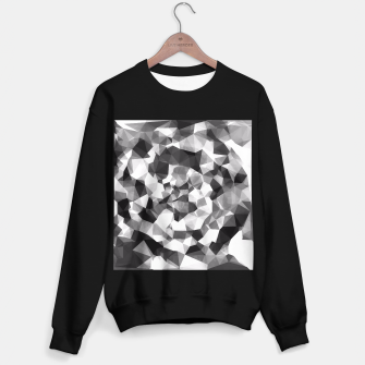 Miniaturka contemporary geometric polygon abstract pattern in black and white Sweater regular, Live Heroes