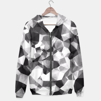 Miniaturka contemporary geometric polygon abstract pattern in black and white Hoodie, Live Heroes