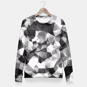 Miniaturka contemporary geometric polygon abstract pattern in black and white Fitted Waist Sweater, Live Heroes
