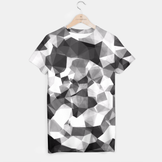 Miniaturka contemporary geometric polygon abstract pattern in black and white T-shirt, Live Heroes