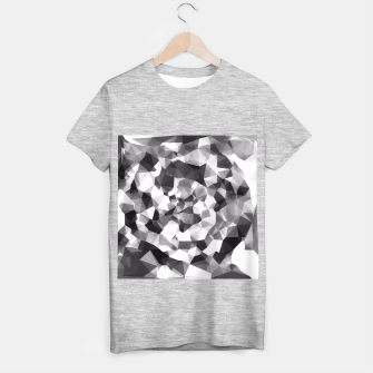 Miniaturka contemporary geometric polygon abstract pattern in black and white T-shirt regular, Live Heroes
