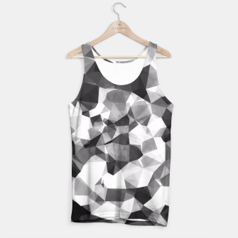 Miniaturka contemporary geometric polygon abstract pattern in black and white Tank Top, Live Heroes