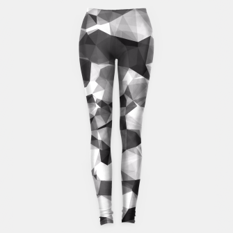 Miniaturka contemporary geometric polygon abstract pattern in black and white Leggings, Live Heroes