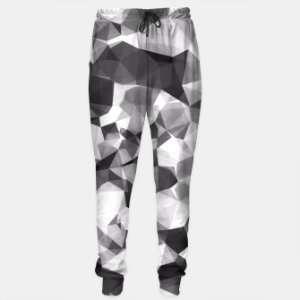 Miniaturka contemporary geometric polygon abstract pattern in black and white Sweatpants, Live Heroes