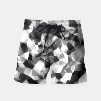 Miniaturka contemporary geometric polygon abstract pattern in black and white Swim Shorts, Live Heroes