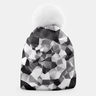 Miniaturka contemporary geometric polygon abstract pattern in black and white Beanie, Live Heroes