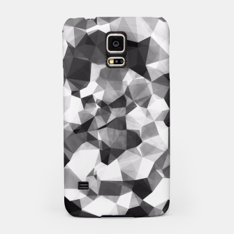 Miniaturka contemporary geometric polygon abstract pattern in black and white Samsung Case, Live Heroes