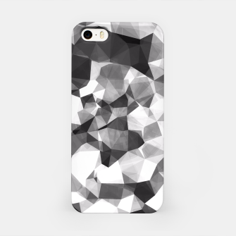 Miniaturka contemporary geometric polygon abstract pattern in black and white iPhone Case, Live Heroes