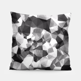 Miniaturka contemporary geometric polygon abstract pattern in black and white Pillow, Live Heroes