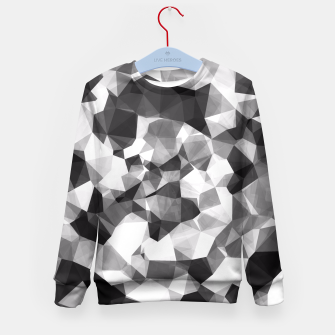 Miniaturka contemporary geometric polygon abstract pattern in black and white Kid's Sweater, Live Heroes