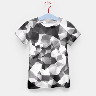 Miniaturka contemporary geometric polygon abstract pattern in black and white Kid's T-shirt, Live Heroes