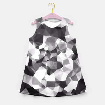 Miniaturka contemporary geometric polygon abstract pattern in black and white Girl's Summer Dress, Live Heroes