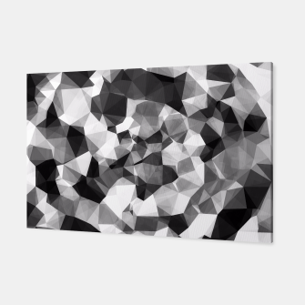 Miniaturka contemporary geometric polygon abstract pattern in black and white Canvas, Live Heroes