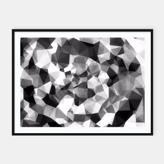 Miniaturka contemporary geometric polygon abstract pattern in black and white Framed poster, Live Heroes