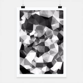 Miniaturka contemporary geometric polygon abstract pattern in black and white Poster, Live Heroes