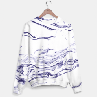 Thumbnail image of Navy Blue Marble Sweater, Live Heroes