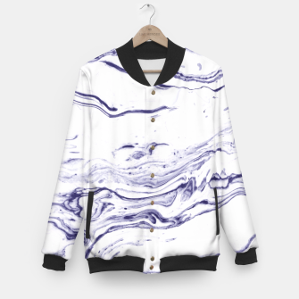Navy Blue Marble Baseball Jacket thumbnail image