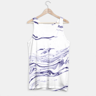 Thumbnail image of Navy Blue Marble Tank Top, Live Heroes